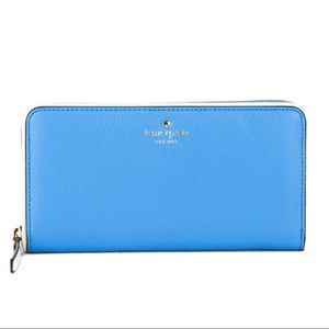 HOST PICK🥳Kate Spade Blue & Cement Leather Wallet